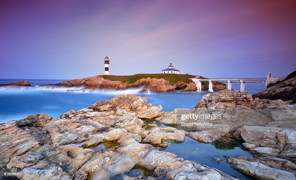 View on Pancha Island at sunset : Stock Photo