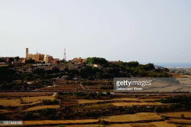 View on part of Mtarfa and surroundings, Mdina, Malta