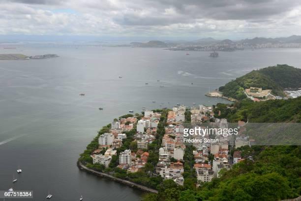 View on residential area Botafogo bay in Rio de Janeiro on November 15 2015 in Rio de Janeiro Brazil