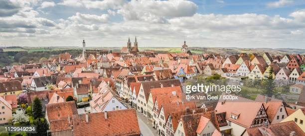 view on rothenburg ob der tauber - reizen stock pictures, royalty-free photos & images
