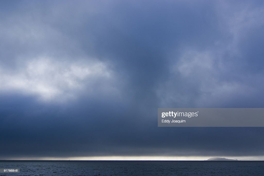 View on San Francisco bay with fog : Stock Photo