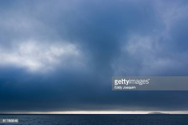 View on San Francisco bay with fog