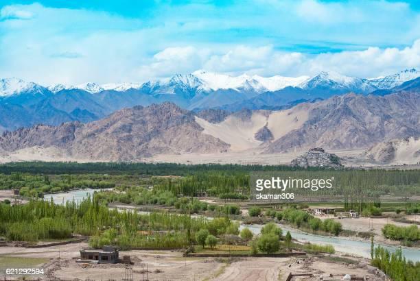 View on Spituk buddhist monastery ladakh