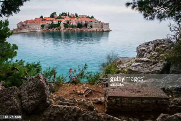 View on Sveti Stefan island