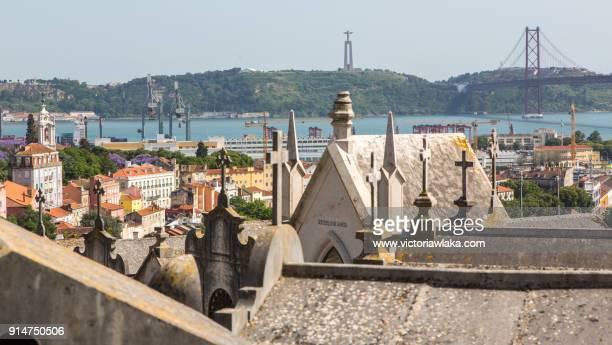 View on Tagus River from Cemiterio dos Prazeres, Lisbon