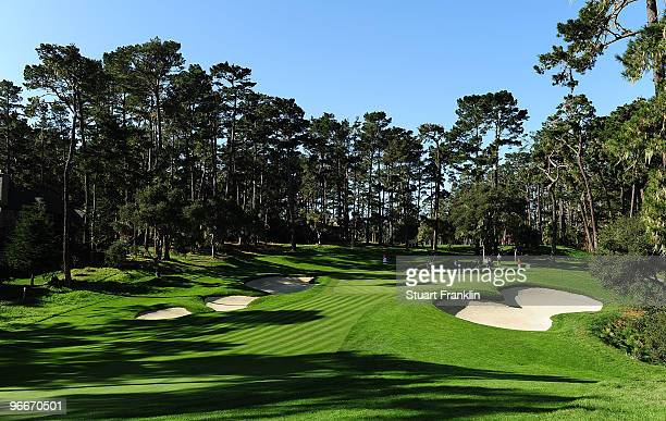 View on the 16th hole during round three of the AT&T Pebble Beach National Pro-Am at Spyglass Hill Golf Course on February 13, 2010 in Pebble Beach,...
