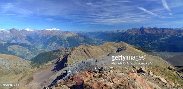 View on the Aosta valley from Mont Citrin