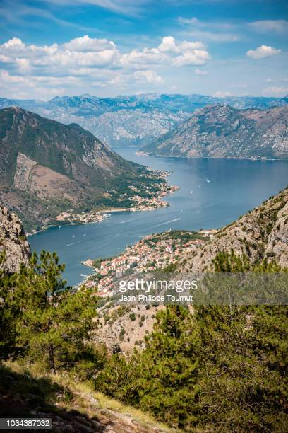 View on the Bay of Kotor when Hiking from Lovcen National Park, Montenegro