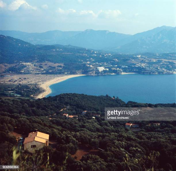 View on the bay of Propriano Corsica 1980s
