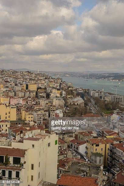 """view on the bosphorus in istanbul - """"sjoerd van der wal"""" stock pictures, royalty-free photos & images"""