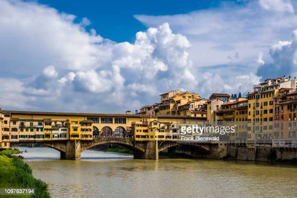 View on the bridge Ponte Vecchio across the river Arno
