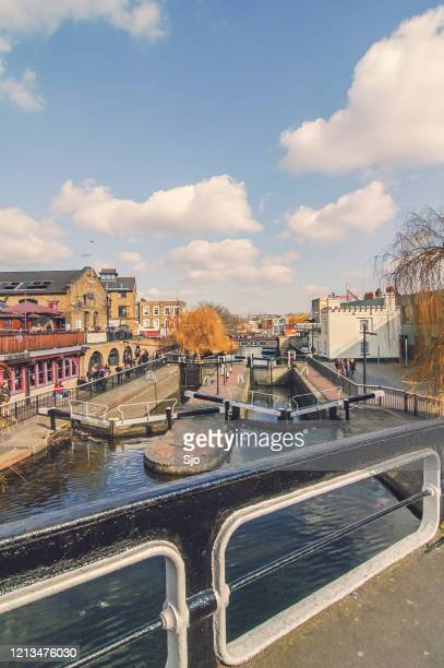 """view on the camden locks at the camden market in camden town london - """"sjoerd van der wal"""" or """"sjo"""" stock pictures, royalty-free photos & images"""