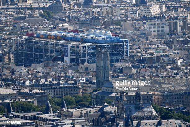 July 5 : View on the Centre Georges Pompidou, in the Beaubourg area in Paris on July 5, 2019 in Paris, France.