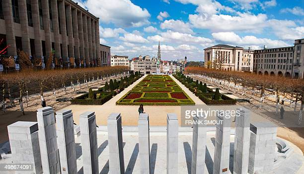 CONTENT] View on the centre of Brussels City from the Mont des Arts Kunstberg in Dutch Mont de Arts in french means hill of the arts This place is a...