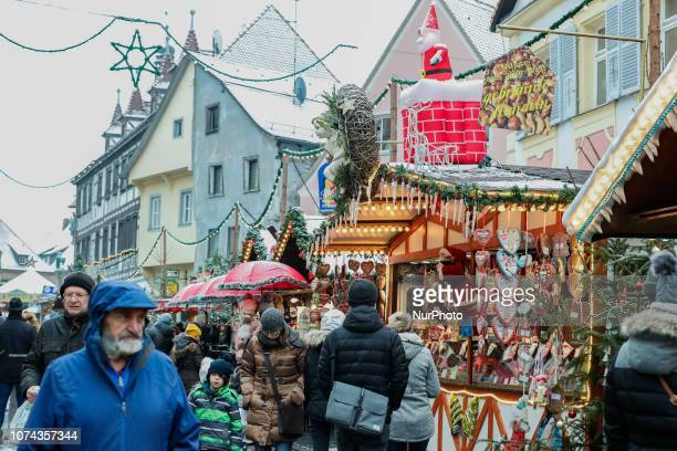 View on the Christmas Market in Forchhiem Christmas Market in the Northern Bavarian town of Forchheim It snowed heavily but a lot of people visited...