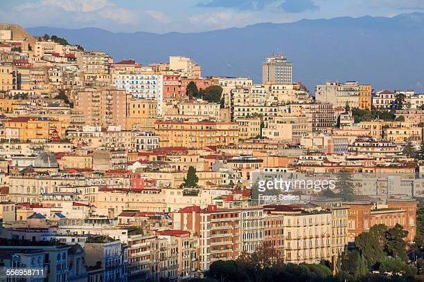 view on the city of naples, italy - frans sellies stockfoto's en -beelden