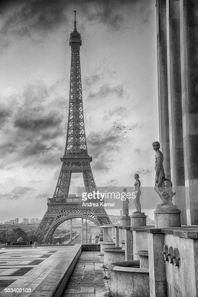 View on the Eiffel tower from Palais de Chaillot