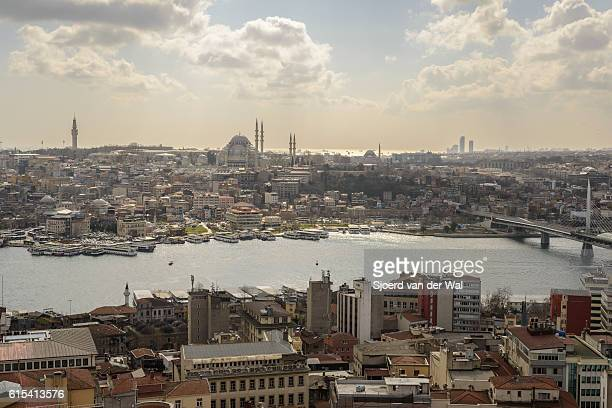 View on the Golden Horn in Istanbul