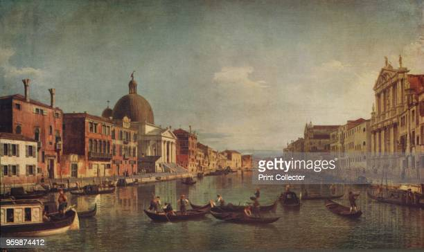 A View on the Grand Canal Venice' circa 1740 Held by the National Gallery London From International Art Past and Present by Alfred Yockney [Virtue...