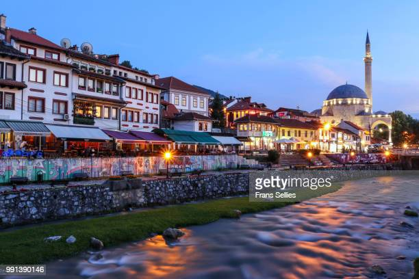 View on the historic city of Prizren on the banks of the Bistrica river, Kosovo