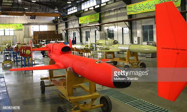 View on the Karrar drone aircraft longrange unmanned bomber aircraft