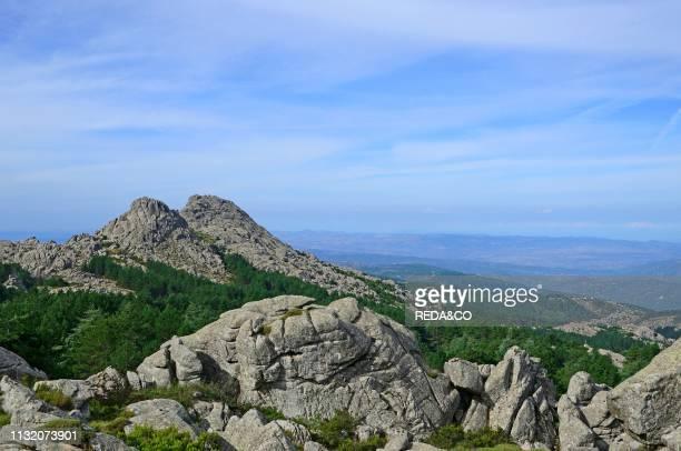 View on the monte Limbara mount. Tempio Pausania. Gallura. Sardinia. Italy. Europe.