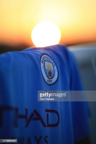 A view on the Nexen bridge at sunrise at Etihad Stadium on March 27 2020 in Manchester England