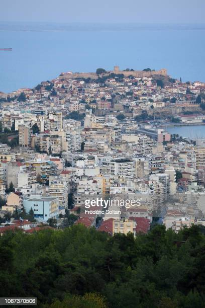 View on the old city and the castle of Kavala It is a city in northern Greece the principal seaport of eastern Macedonia and the capital of Kavala...