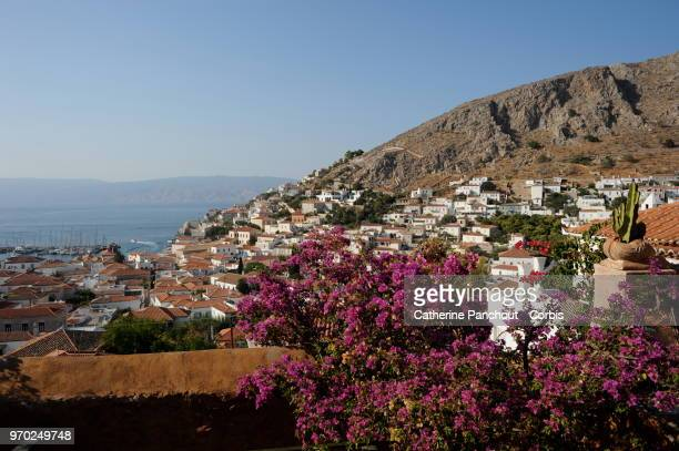 JULY 25 A view on the port of Hydra on July 25 2014 in Hydra
