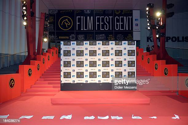 View on the red carpets of the Film Fest Gent after the Vips arrived on October 8 2013 in Ghent Belgium
