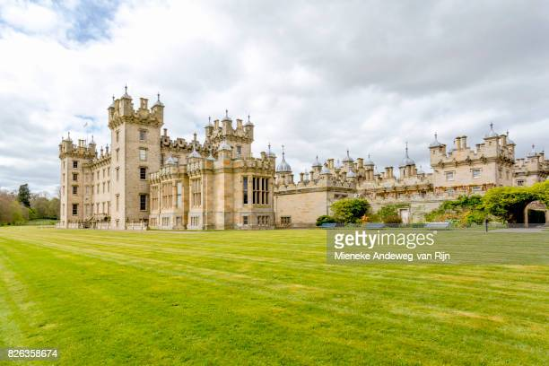View on the south front of Floors Castle, Kelso, Roxburghshire, Scottish Borders, Scotland, United Kingdom.