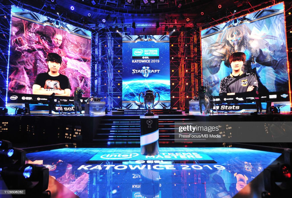 View on the stage during StarCraft II final game between Eo soO Yoon