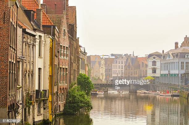 View on the town of Ghent in Belgium