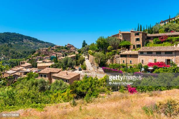 View on the Village of Deia Mallorca Spain