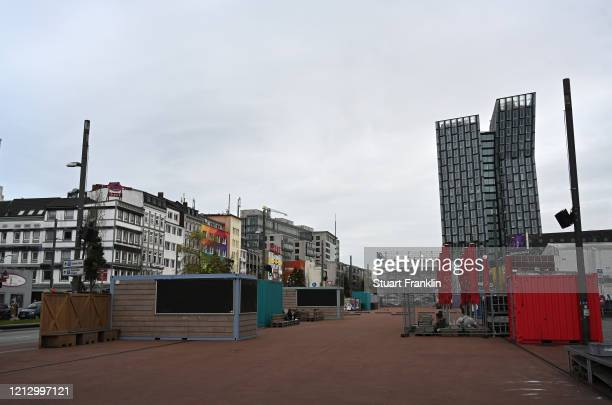 View on the world famous Reeperbahn after the Senate of Hamburg has released a decree to limit social life heavily on March 17, 2020 in Hamburg,...