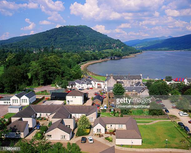 View onto Inveraray and Loch Fyne from the Bell Tower Argyll Scotland United Kingdom