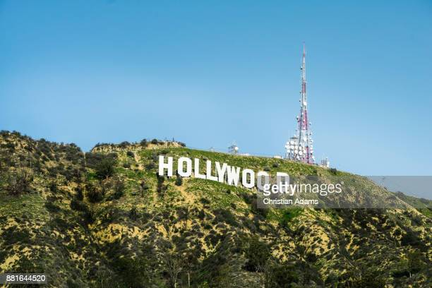 view onto sunny hollywood sign