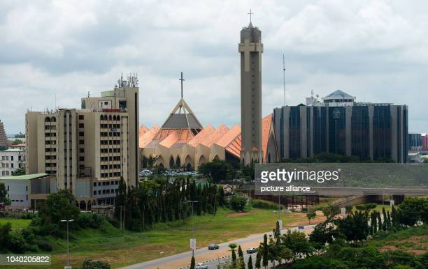 View onto the inner city of Abuja Nigeria 10 October 2016 In the middle one can see the National Christian Centre PHOTO MONIKA SKOLIMOWSKA/dpa |...