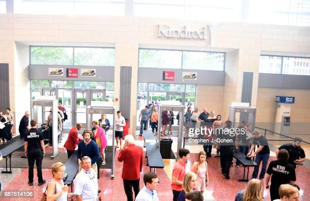 A view ot security at the Mumford Sons concert at KFC YUM Center on May 23 2017 in Louisville Kentucky