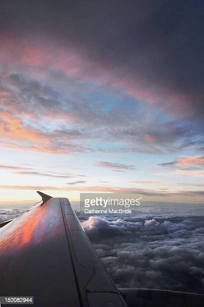 view out aeroplane window - catherine macbride stock pictures, royalty-free photos & images