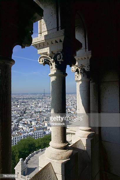 View out of Sacre Coeur arches, Paris