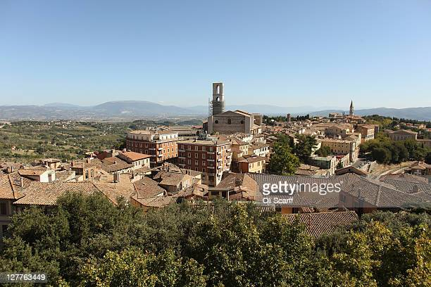 View out over the city of Perugia, the capital of the central Italian region of Umbria, on October 01, 2011 in Perugia, Italy. Amanda Knox and...