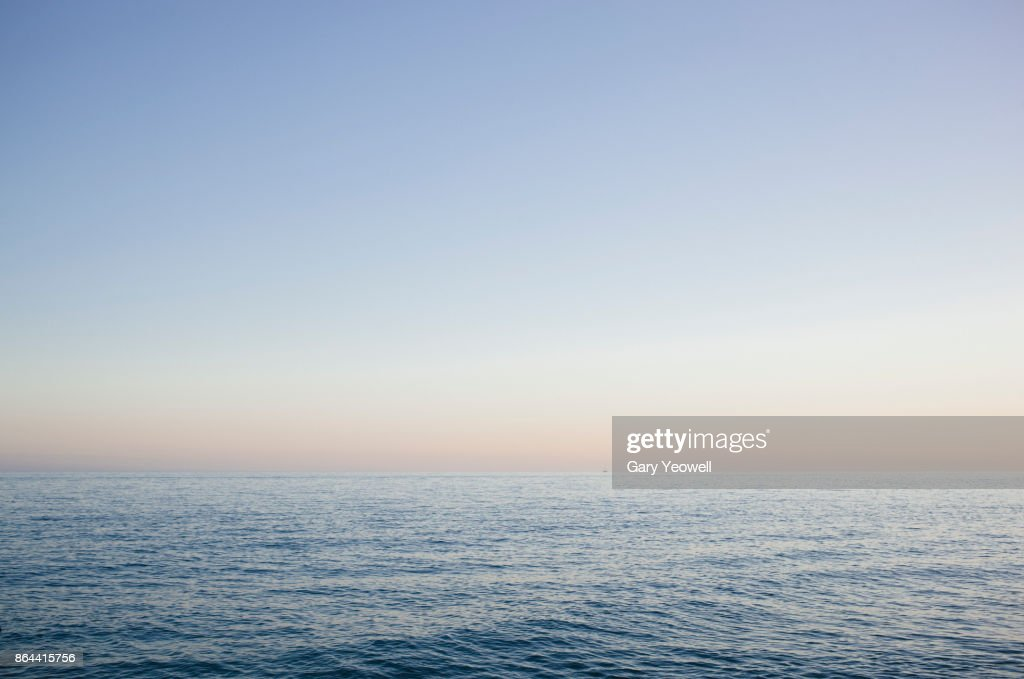 View out to sea from Plaza Balcon de Europa in Nerja : Stock Photo
