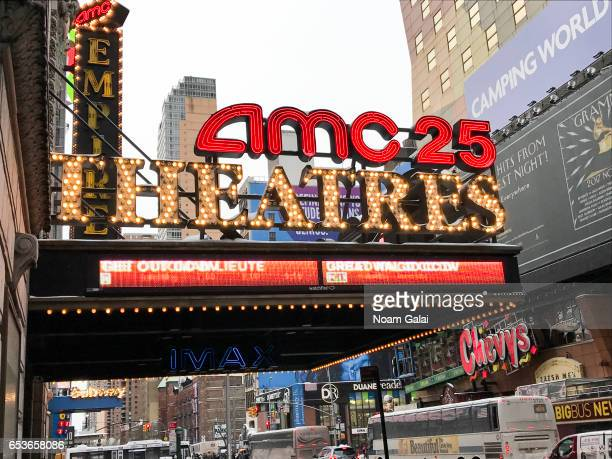 A view outside AMC Empire 25 in Times Square on March 15 2017 in New York City