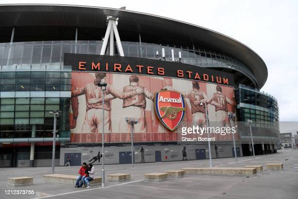 View outside Emirates stadium on March 14, 2020 in London, England.
