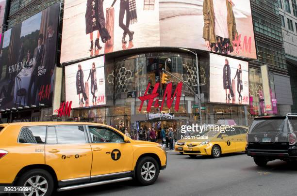 A view outside HM Times Square on October 25 2017 in New York City