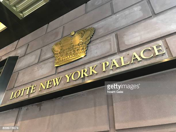 A view outside Lotte New York Palace on August 24 2017 in New York City