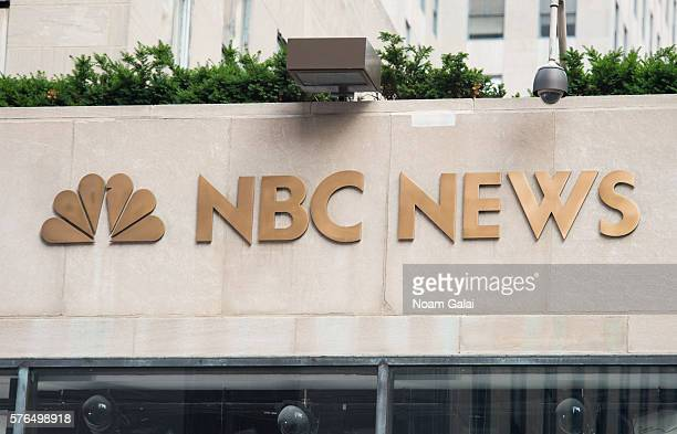 A view outside NBC News studios at Rockefeller Plaza on July 15 2016 in New York City