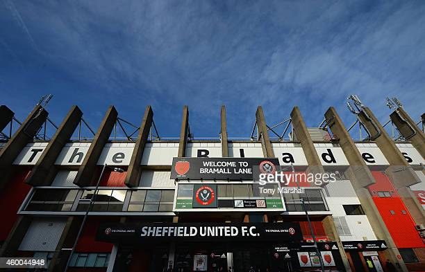 A view outside of Bramall Lane Home of Sheffield United FC during the FA Cup Second Round match between Sheffield United and Plymouth Argyle at...