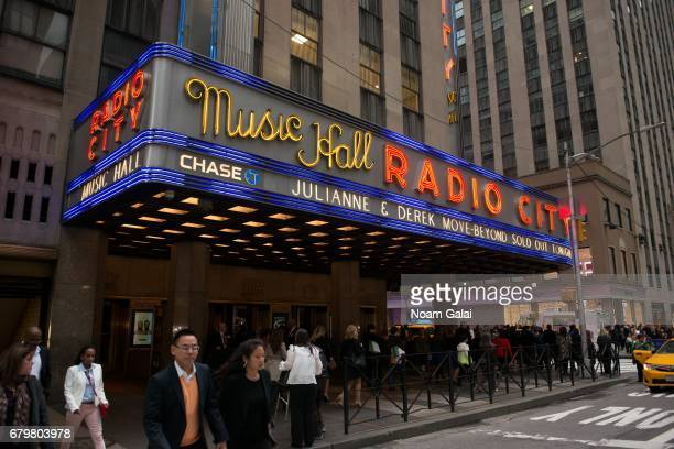 View outside of Radio City Music Hall on May 6, 2017 in New York City.